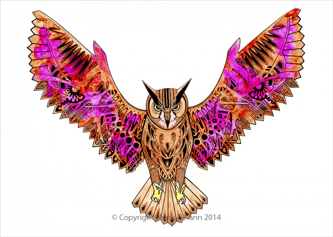 Owl illustration by Shane Swann