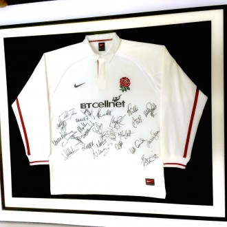 Framing an England rugby shirt