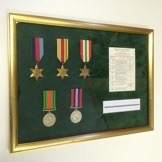 Framing a soldier's WW2 medals